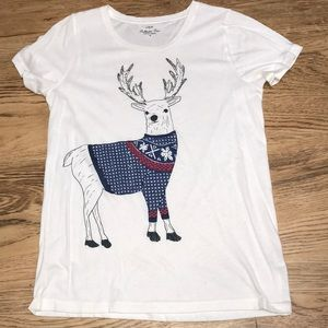 J Crew Reindeer T Shirt Size Medium